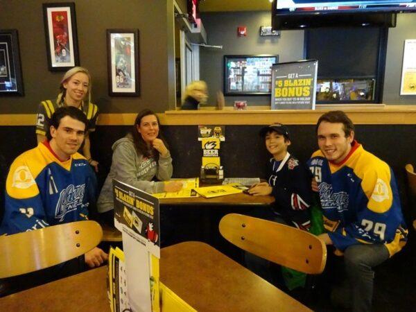 Oshawa Generals Charity Dinner at the Oshawa Buffalo Wild Wings