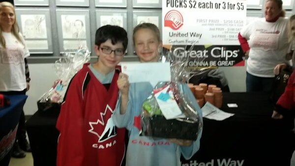 Great Clips presented Chuck a Puck on February 8, 2015 as the Oshawa Generals Took on the Guelph Storm
