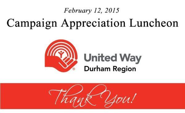 Campaign Appreciation Luncheon 2015