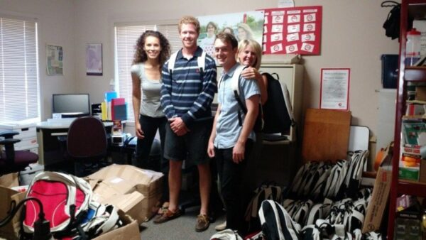 Thank you to Monica and team from Telus for collecting backpacks and back to school supplies for the annual Backpack Program!
