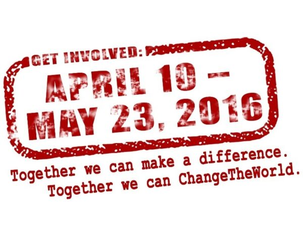 Change the World Save the Date stamp