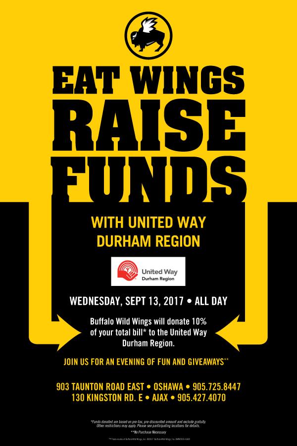 Eat Wings, Raise Funds in Durham Region