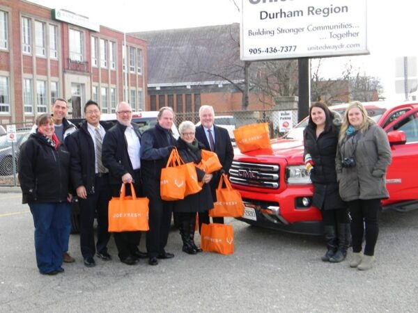 General Motors Canada Ltd. made an exceptional offer of assistance to help get additional food relief to families in Durham at this time of year. This contribution is above and beyond their traditional and very generous contribution to our broad annual community campaign which helps more than 40 charities across the Durham Region.
