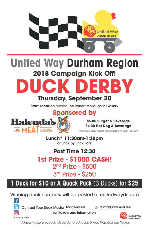 Duck Derby Kick Off September 20, 2018