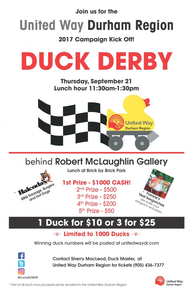 Join us Sept. 21st for the UWDR Duck Derby, Campaign Kick-off