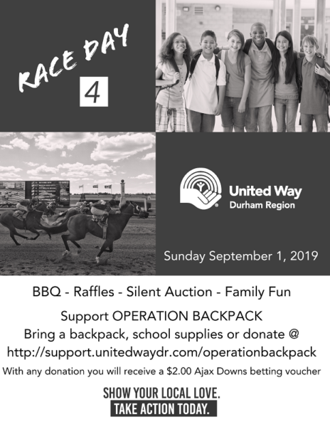 Race Day 4 United Way Poster