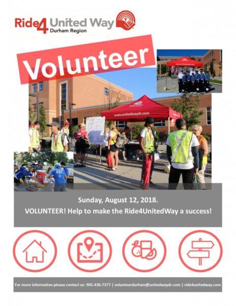 Ride4UnitedWay Volunteer Flyer