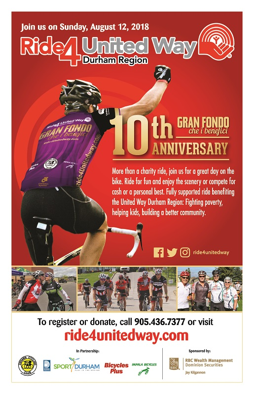 August 12, 2018 Ride4UnitedWay Poster